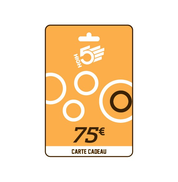 Carte cadeau HIGH5® 75€